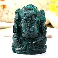 Malachite Ganesha - 100 gms