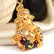 Ganesh Pendant in Gold - 3.05 gms