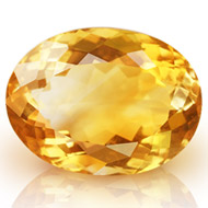 Yellow Citrine - 8.50 carats - Oval