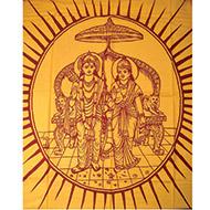Ram Sita in Sinhasan Shawl