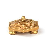 Shiv Yantra Chowki in Brass