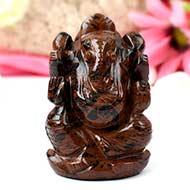 Mahogany obsidian Ganesha - 103 gms