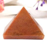 Pyramid in Natural Orange Jade