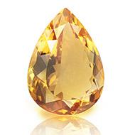 Yellow Citrine - 14 Carats - Pear