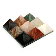 Set of Nine Gemstone Pyramids Plate