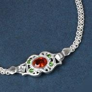 Pure silver Rakhi - Design XXV