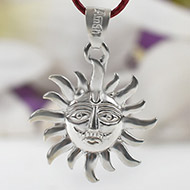 Surya Locket in pure silver - I