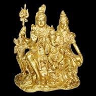 Shiv Parivar in Brass