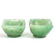 Diyas in Green Jade - Set of 2 - 97 gms