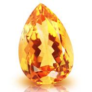 Yellow Citrine - 7.25 carats - Pear