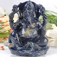Blue Sodolite Ganesha - 920 gms