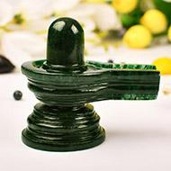 Green Jade Shivlinga - 186 gms
