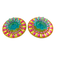 Rangoli stand Diyas - Design II - Set of 2