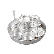 Puja Thali - german silver