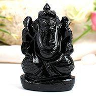 Obsidian Ganesha - 140 gms
