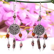 Rudraksha Opal Earring
