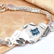 Pure silver Rakhi - Design XIX