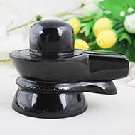 Black Agate Shivling - 517 gms