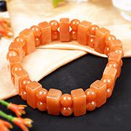 Orange Jade Bracelet - I