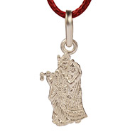 Radha Krishna in Silver Locket