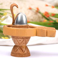 Parad  Lingam on Sandalwood Yoni Base