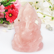 Rose Quartz Ganesha - 1073 gms