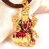 Lakshmi Locket in Pure Gold - Design II