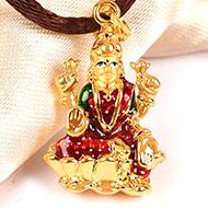 Lakshmi Locket in Pure Gold - Design II