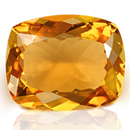 Yellow Citrine - 5 to 6 carats - Cushion