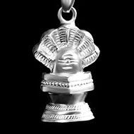 Shivling with Snake Locket in Pure Silver - 2.75 gms