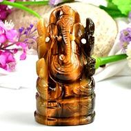 Tiger Eye Ganesha - 296 gms