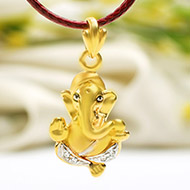 Ganesh Pendant in Gold - 2.20 gms
