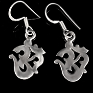 Om Earrings in Silver