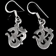 Om Earrings in Silver