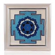 Saraswati Yantra on silk with frame