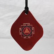 Ganesh Yantra Pendant on Red Aventurine
