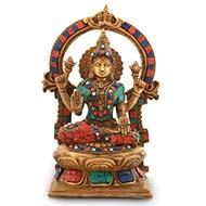 Lakshmi idol with stone work
