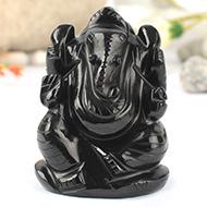Black Agate Ganesha - 123 gms