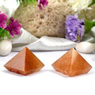 Multi Pyramid - Yellow Jade - Set of 2