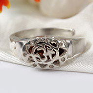 One Mukhi Java in Silver Ring