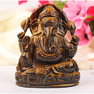 Tiger Eye Ganesha - 319 gms