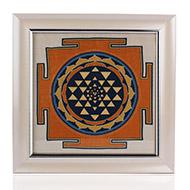 ShreeYantra on silk with frame