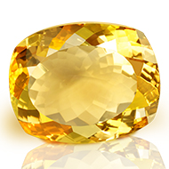 Yellow Citrine - 35.85 carats - Cushion