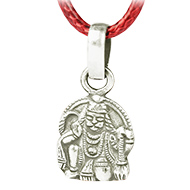 Hanuman Mudra Locket in Pure Silver