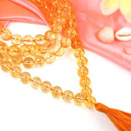 Yellow Citrine mala - 10 mm