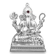 Vighneshwara Ganesha in pure silver