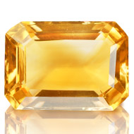 Yellow Citrine - 7.45 carats - Emerald