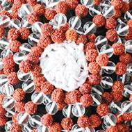 Rudraksha and Sphatik beads cap