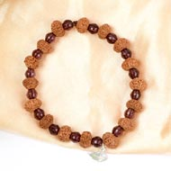 9 mukhi Durga bracelet from Java with Amethyst beads
