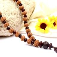 9 mukhi Durga Mala from Java with Red Sandalwood beads